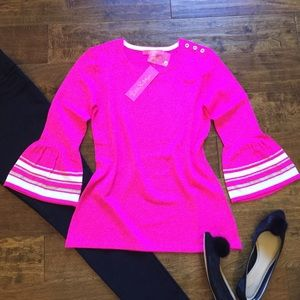 Lilly Pulitzer Callee Top Bougainvillea Pink NEW!!